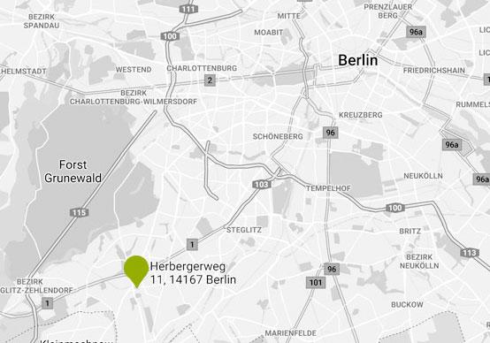 Karte Naturheilpraxis Heidorn in Berlin-Zehlendorf